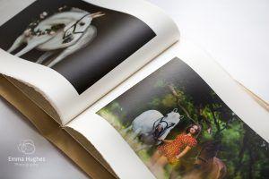 open spread of book