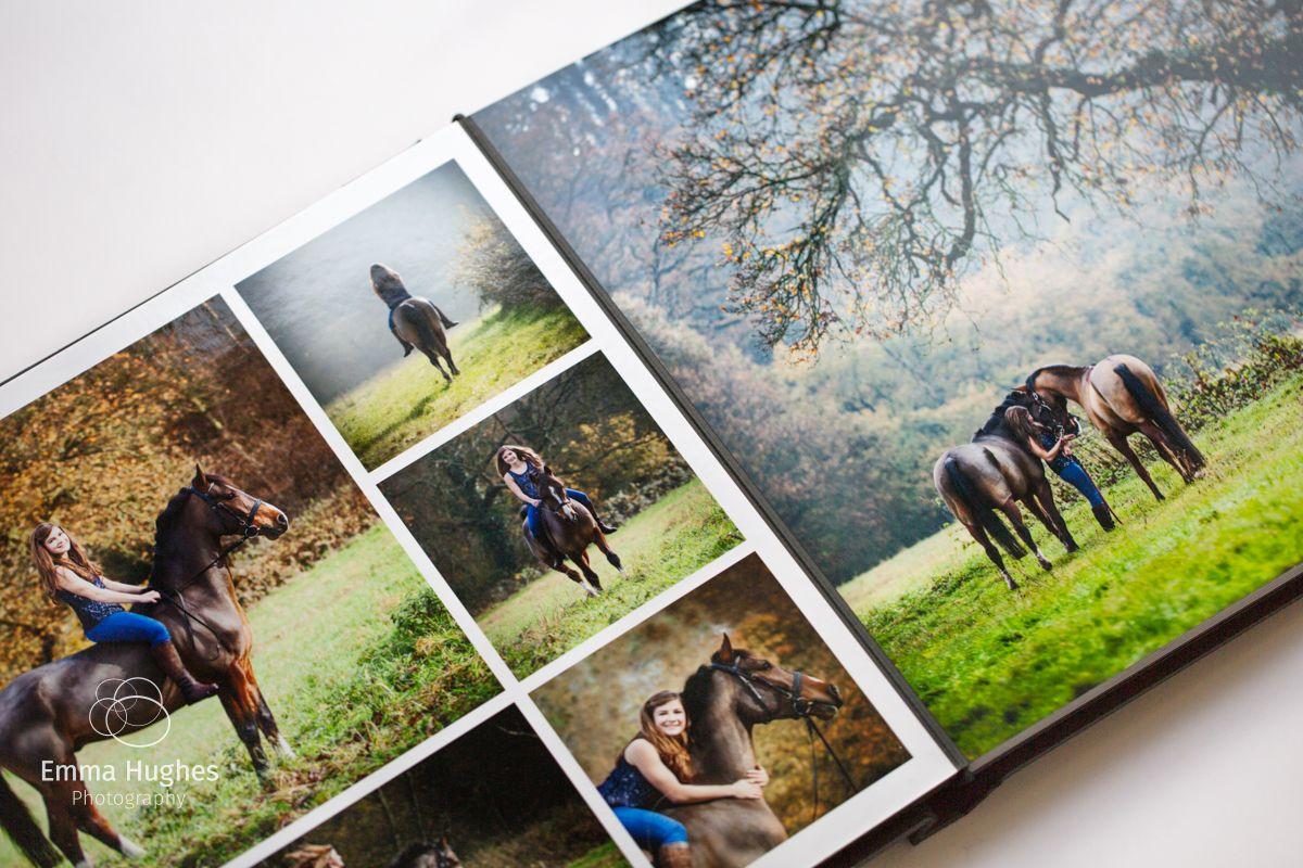 Photo album spread