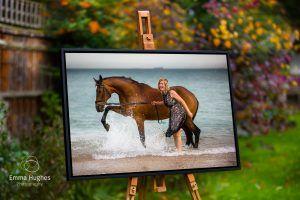 tray framed acrylic on an easel